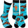 Socks - Awesome Bonus Mom - One Size Fits Most - Cotton, Nylon, Spandex