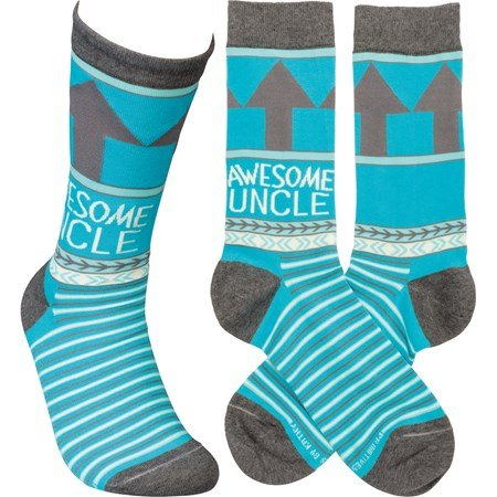 Socks - Awesome Uncle - One Size Fits Most - Cotton, Nylon, Spandex