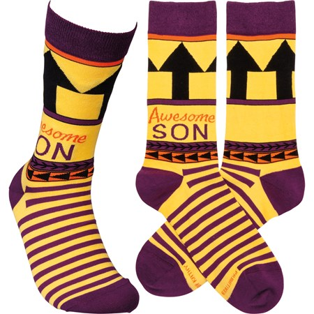 Socks - Awesome Son - One Size Fits Most - Cotton, Nylon, Spandex
