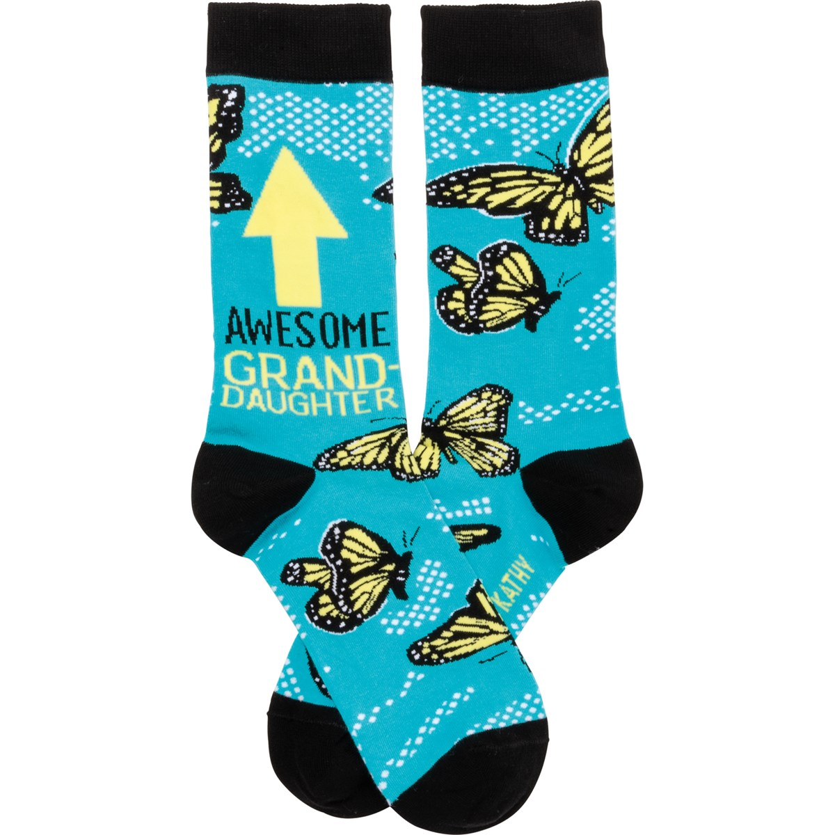 Socks - Awesome Granddaughter - One Size Fits Most - Cotton, Nylon, Spandex