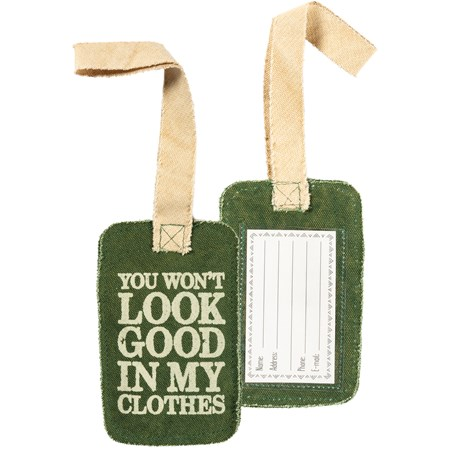 "Luggage Tag - My Clothes - 3.25"" x 5.25"" - Canvas, Plastic"