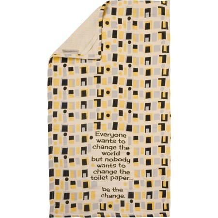 "Hand Towel - Be The Change - 16"" x 28"" - Cotton, Terrycloth"