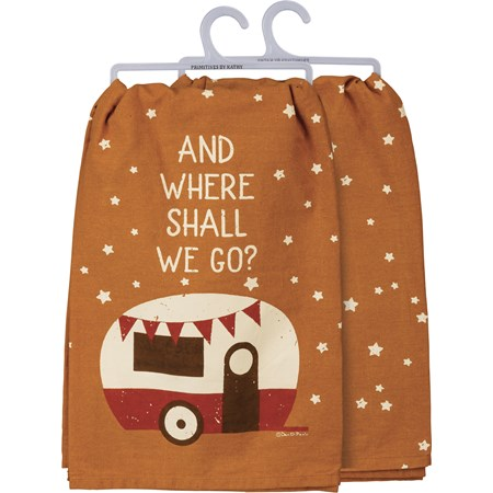 "Dish Towel - And Where Shall We Go - 28"" x 28"" - Cotton"