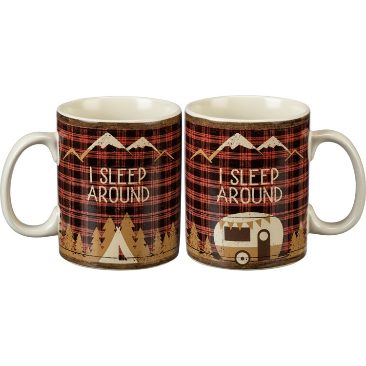Mug - I Sleep Around - 20 oz. - Stoneware