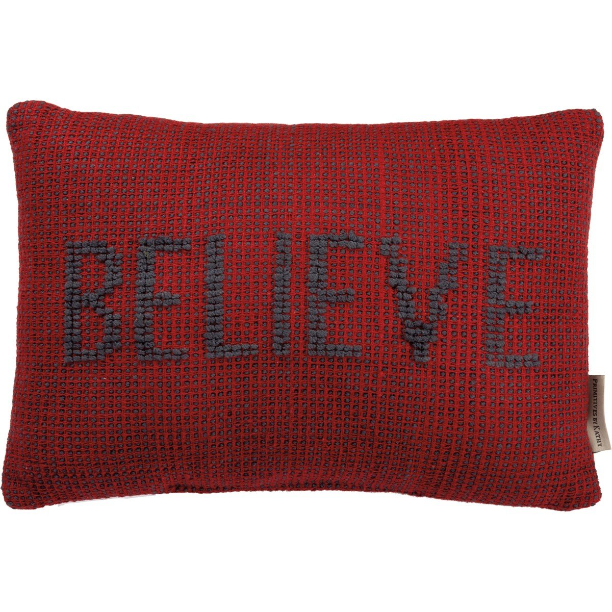 "Pillow - Believe - 15"" x 10"" - Cotton, Canvas"