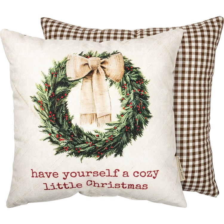 Pillow Have Yourself A Cozy Little Christmas Rustic Collection Primitives By Kathy