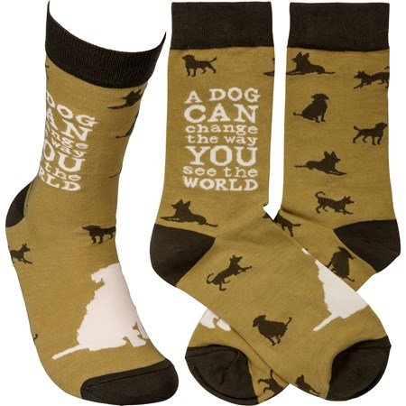Socks - A Dog Can Change The Way You See The World - One Size Fits Most - Cotton, Nylon, Spandex