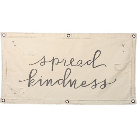 "Wall Banner - Spread Kindness - 40"" x 20"" - Canvas, Metal"