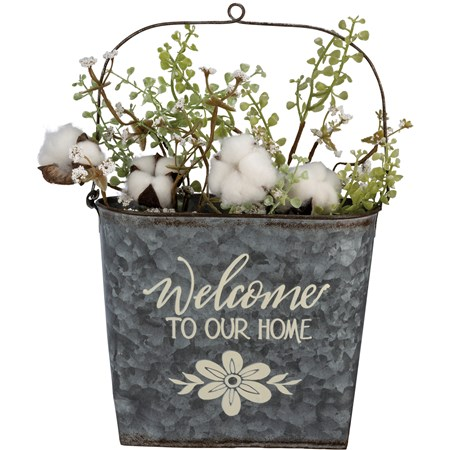 "Bin - Welcome To Our Home - 9"" x 8"" x 4.50"" - Metal"