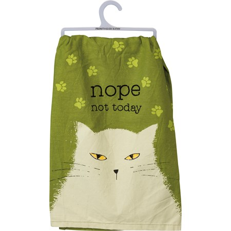 "Dish Towel - Nope Not Today - 28"" x 28"" - Cotton"