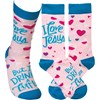 Socks - But I Drink A Little - One Size Fits Most - Cotton, Nylon, Spandex