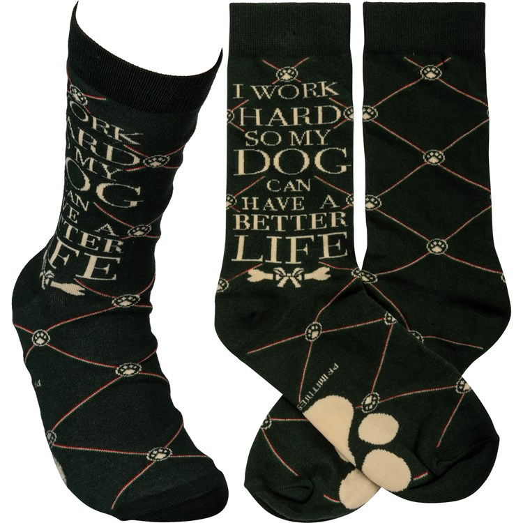Socks - So My Dog Can Have A Better Life - One Size Fits Most - Cotton, Nylon, Spandex