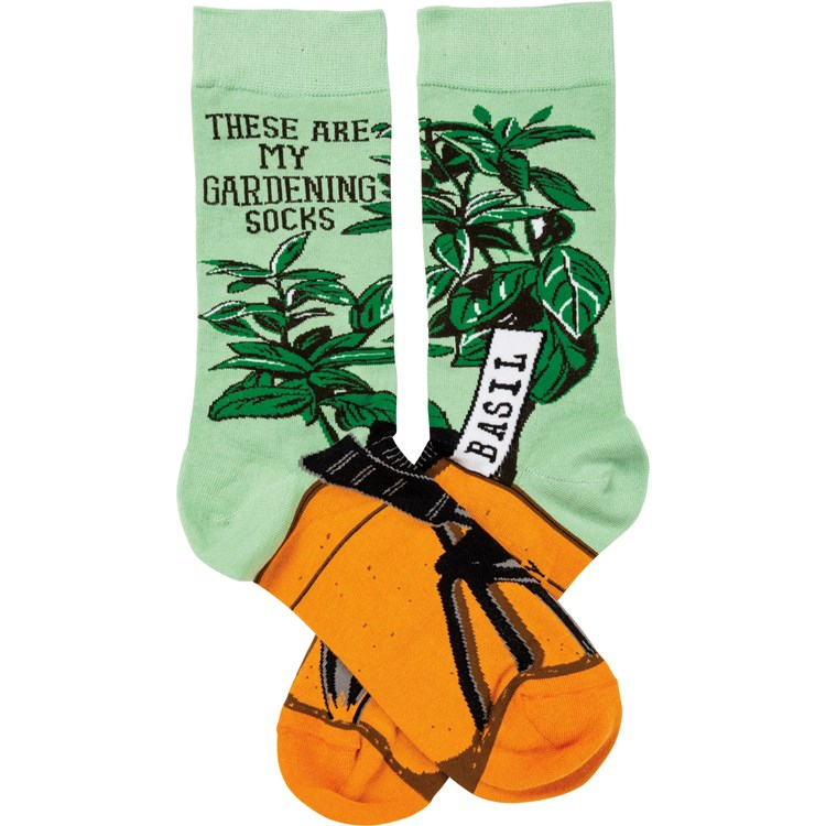 Socks - These Are My Gardening Socks - One Size Fits Most - Cotton, Nylon, Spandex