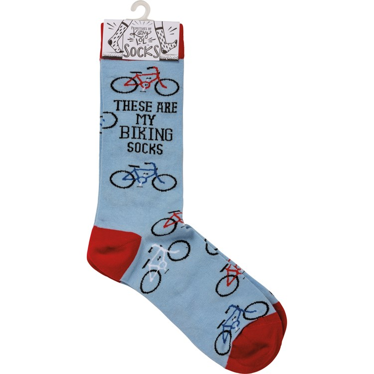 Socks - These Are My Biking Socks - One Size Fits Most - Cotton, Nylon, Spandex
