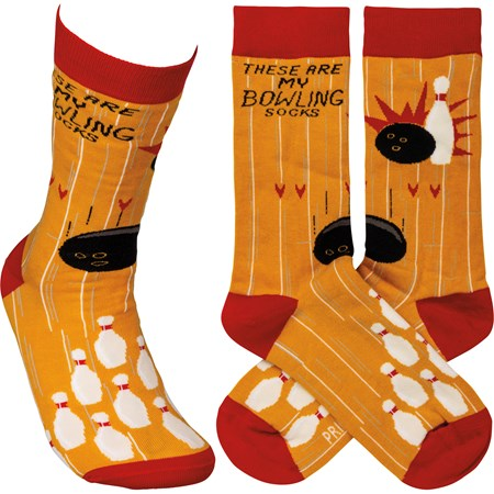 Socks - These Are My Bowling Socks - One Size Fits Most - Cotton, Nylon, Spandex