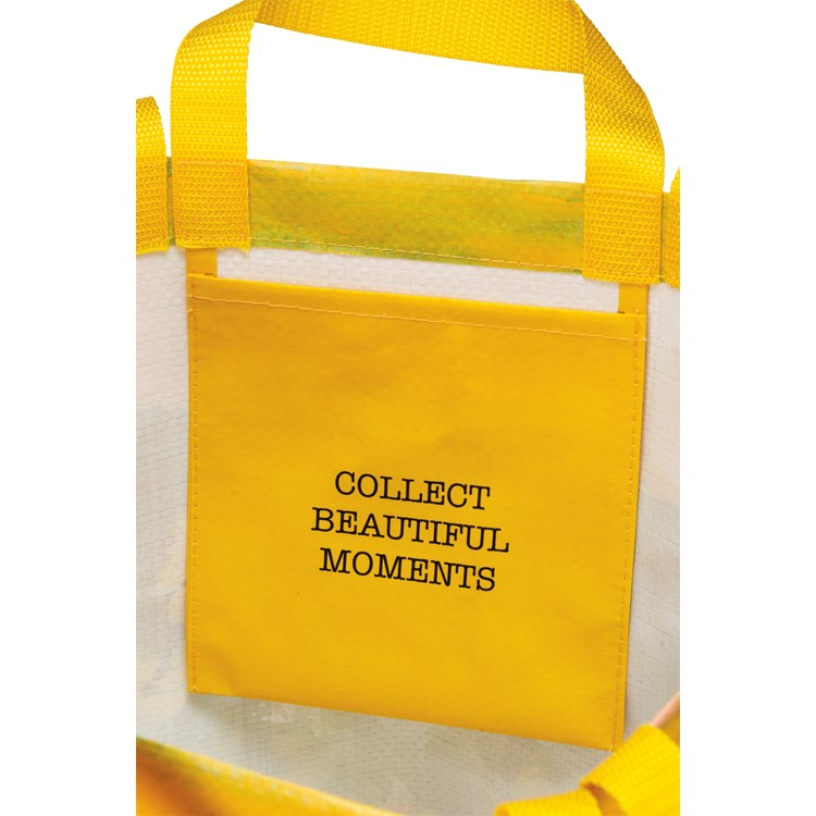 "Market Tote - Beautiful Moments - 15.50"" x 15.25"" x 6"" - Post-Consumer Material, Nylon"