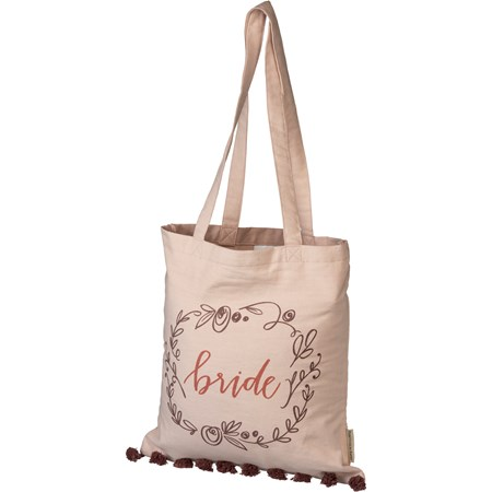 "Tote - Bride - 14"" x 15.50"", 12"" Handle Drop - Cotton"