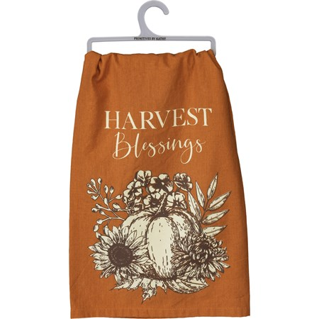 "Dish Towel - Harvest Blessings - 28"" x 28""  - Cotton"
