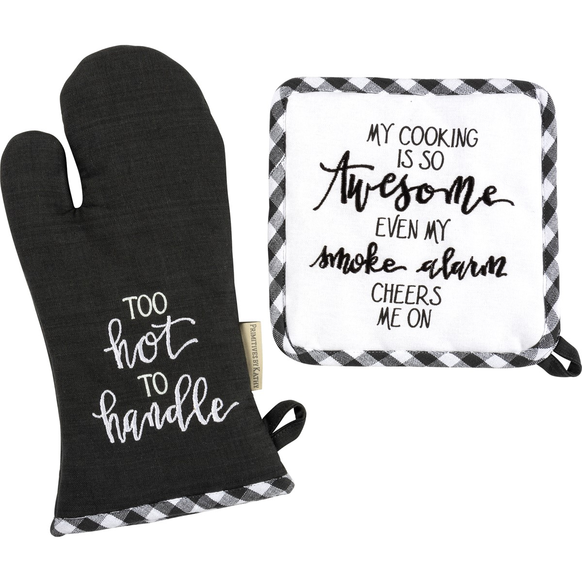 "Kitchen Set - My Cooking Is So Awesome - 7"" x 13"", 8"" x 8"" - Cotton"