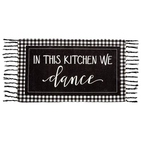 "Rug - In This Kitchen We Dance - 34"" x 20"" - Polyester, Cotton"