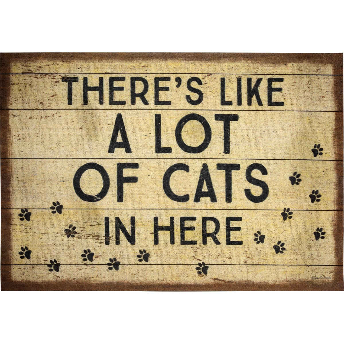 "Rug - There's Like A Lot Of Cats In Here - 34"" x 20"" - Polyester, PVC"