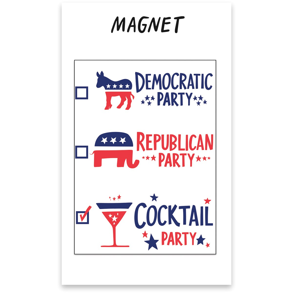 "Magnet - Cocktail Party - 2.50"" x 3.50"", Card: 3"" x 5"" - Magnet, Paper"