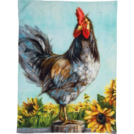 "Dish Towel - Rooster - 20"" x 26"" - Cotton"