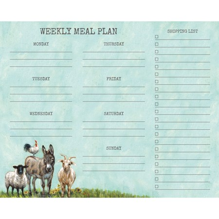"Notepad - Family Meal Plan - 9"" x 7.25"" x 0.25"" - Paper"