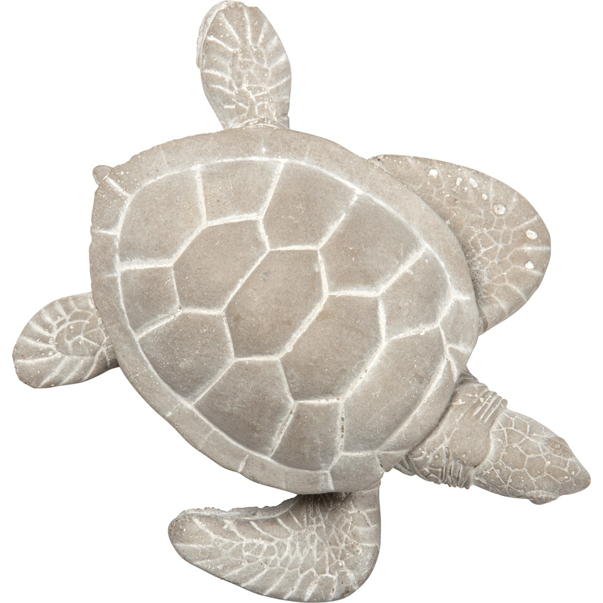 "Cement Turtle - 5.25"" x 6"" x 2.25"" - Cement"