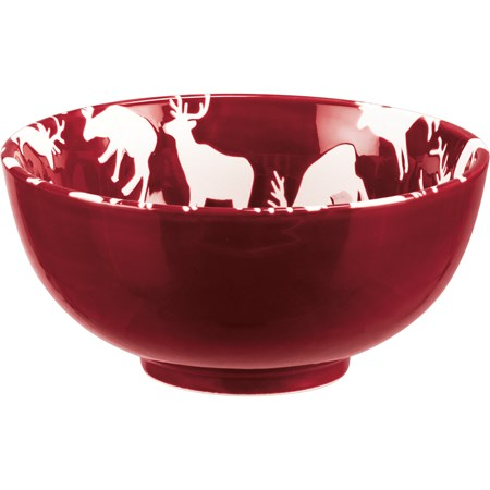 "Bowl - Deer - 5.75"" Diameter x 2.75"" - Stoneware"