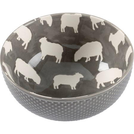 "Bowl - Sheep - 5.75"" Diameter x 2.75"" - Stoneware"