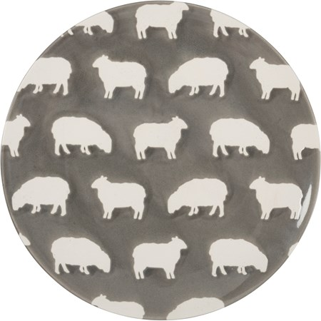 "Plate Med - Sheep - 8.50"" Diameter - Stoneware"