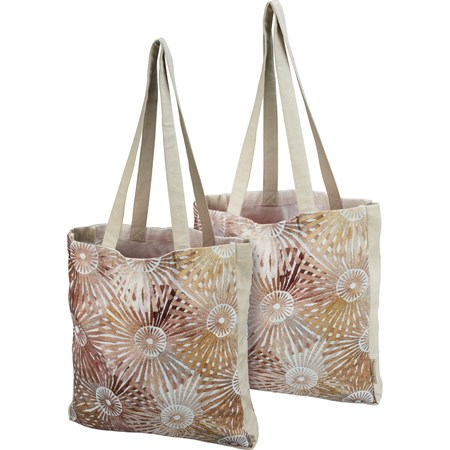 "Tote - Stella - 14"" x 15.50"" x 2"", 12"" Handle drop - Cotton"