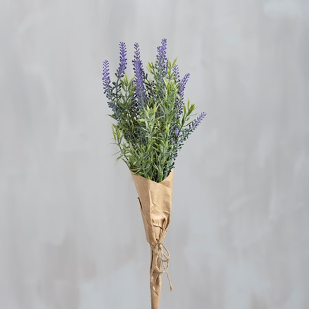"Bouquet - Lavender Bundle - 14"" Tall - Plastic, Wire, Paper, Jute"