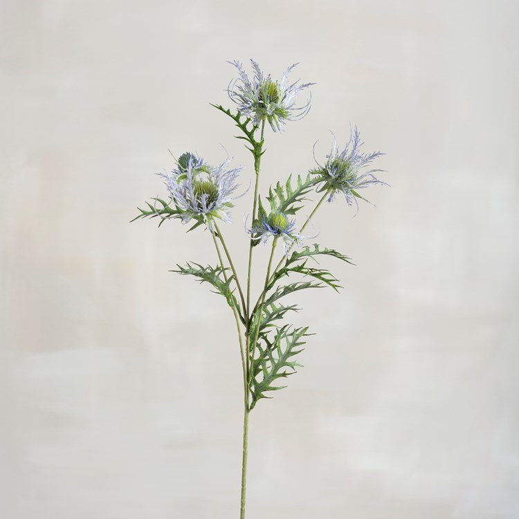 "Pick - Blue Sea Holly - 24.50"" Tall - Plastic, Wire"