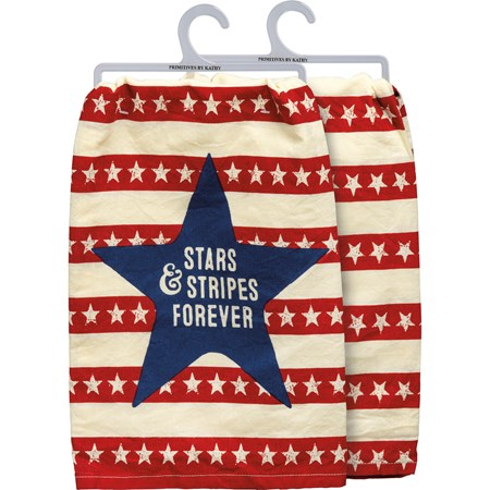 "Dish Towel - Stars & Stripes Forever - 28"" x 28"" - Cotton"