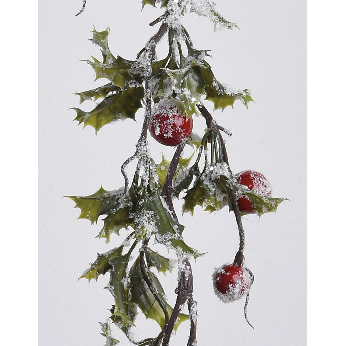 "Garland - Holly - 66"" Long - Plastic, Mica"