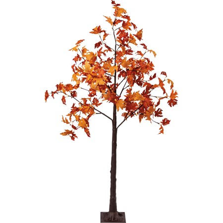 "Tree - Med Fall Maple - 40"" Diameter x 72"", 16' Cord - Wire, Fabric, Plastic, Cord, Lights"