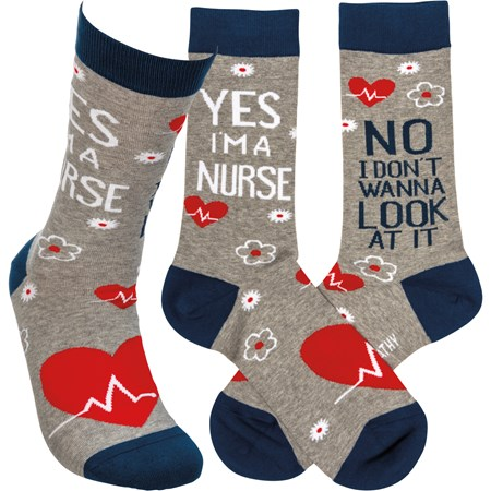 Socks - No I Don't Wanna Look At It - One Size Fits Most - Cotton, Nylon, Spandex