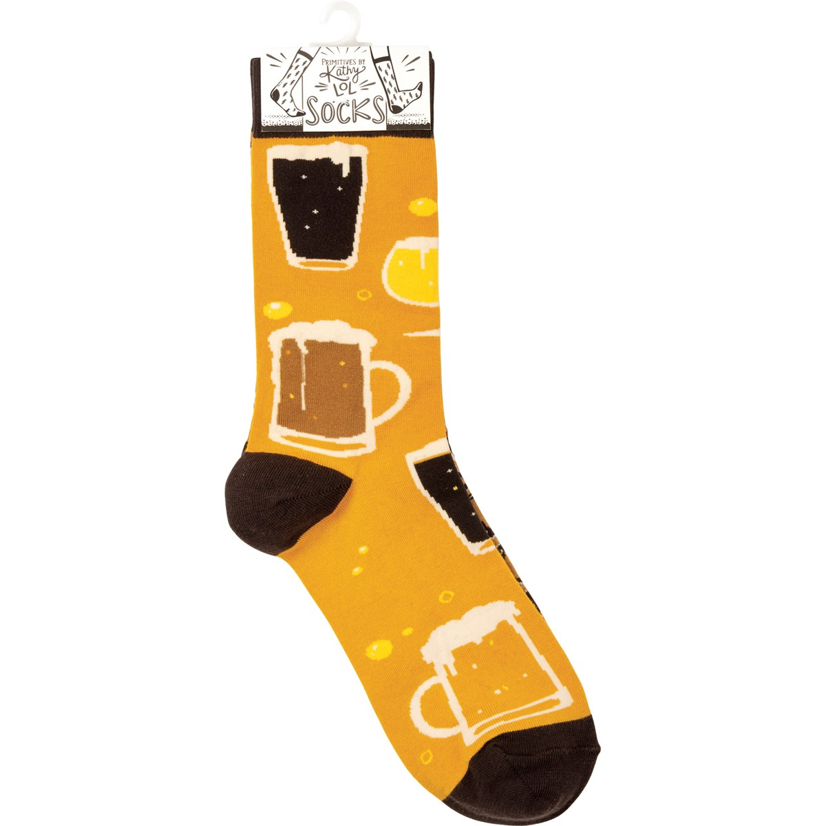 Socks - Beer & Pretzels - One Size Fits Most - Cotton, Nylon, Spandex