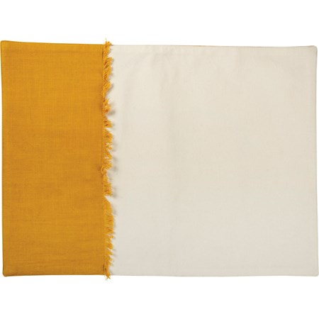 "Placemat - Saffron Block - 19"" x 14"" - Cotton"