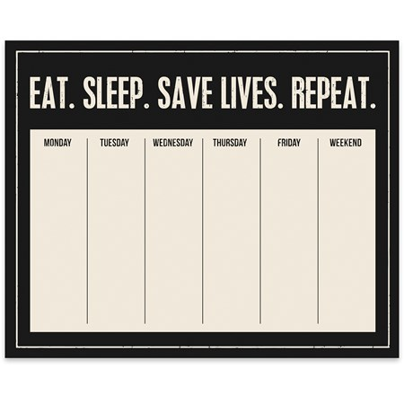 "Notepad - Eat Sleep Save Lives Repeat - 9"" x 7.25"" x 0.25"" - Paper"