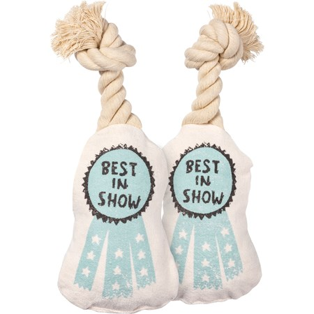 "Dog Toy - Best In Show - 4"" x 5.75"" x 2"" - Canvas, Rope"