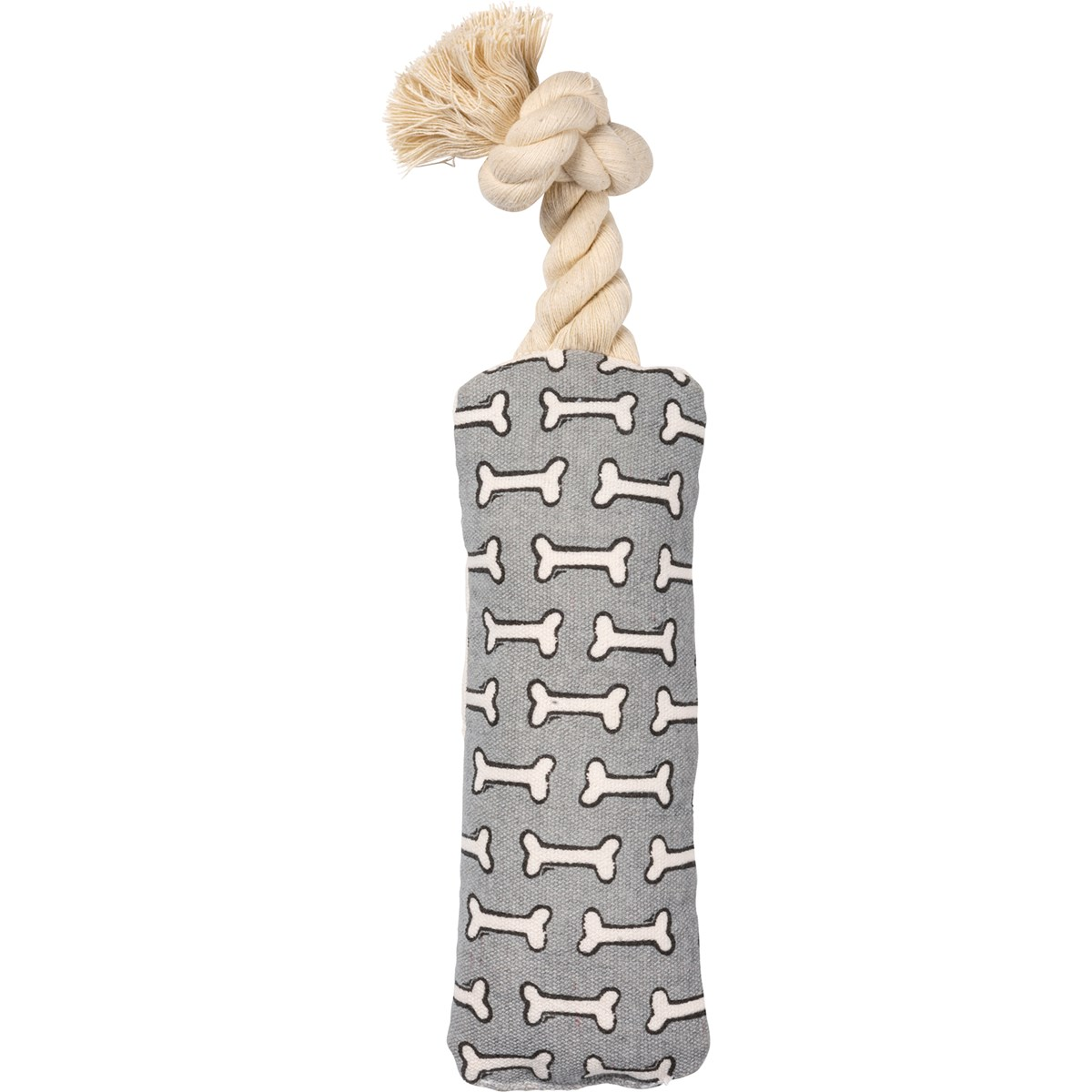 "Dog Toy - The Puppy Post - 3"" x 8"" x 2"" - Canvas, Rope"
