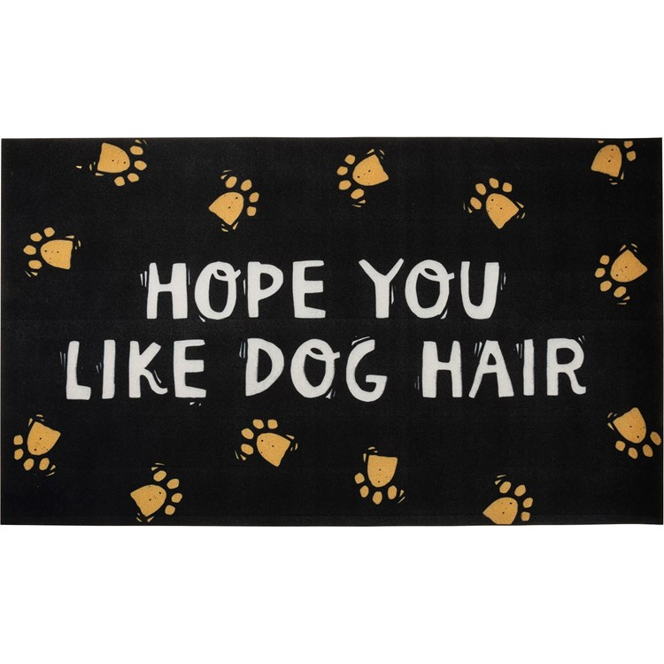 "Rug - Hope You Like Dog Hair - 34"" x 20"" - Cotton, PVC"