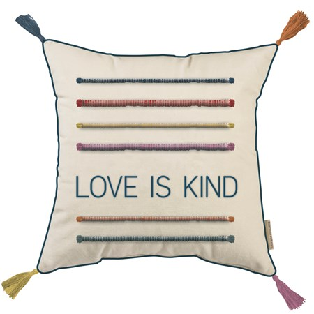"Pillow - Love Is Kind - 14"" x 14"" - Cotton"