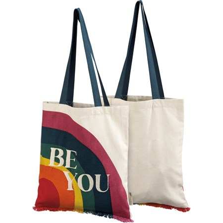 "Tote - Be You - 14"" x 15.50"", 12"" Handle Drop - Cotton"
