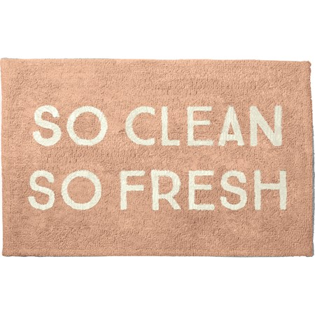 "Bath Rug - So Clean So Fresh - 32"" x 20"" - Cotton"