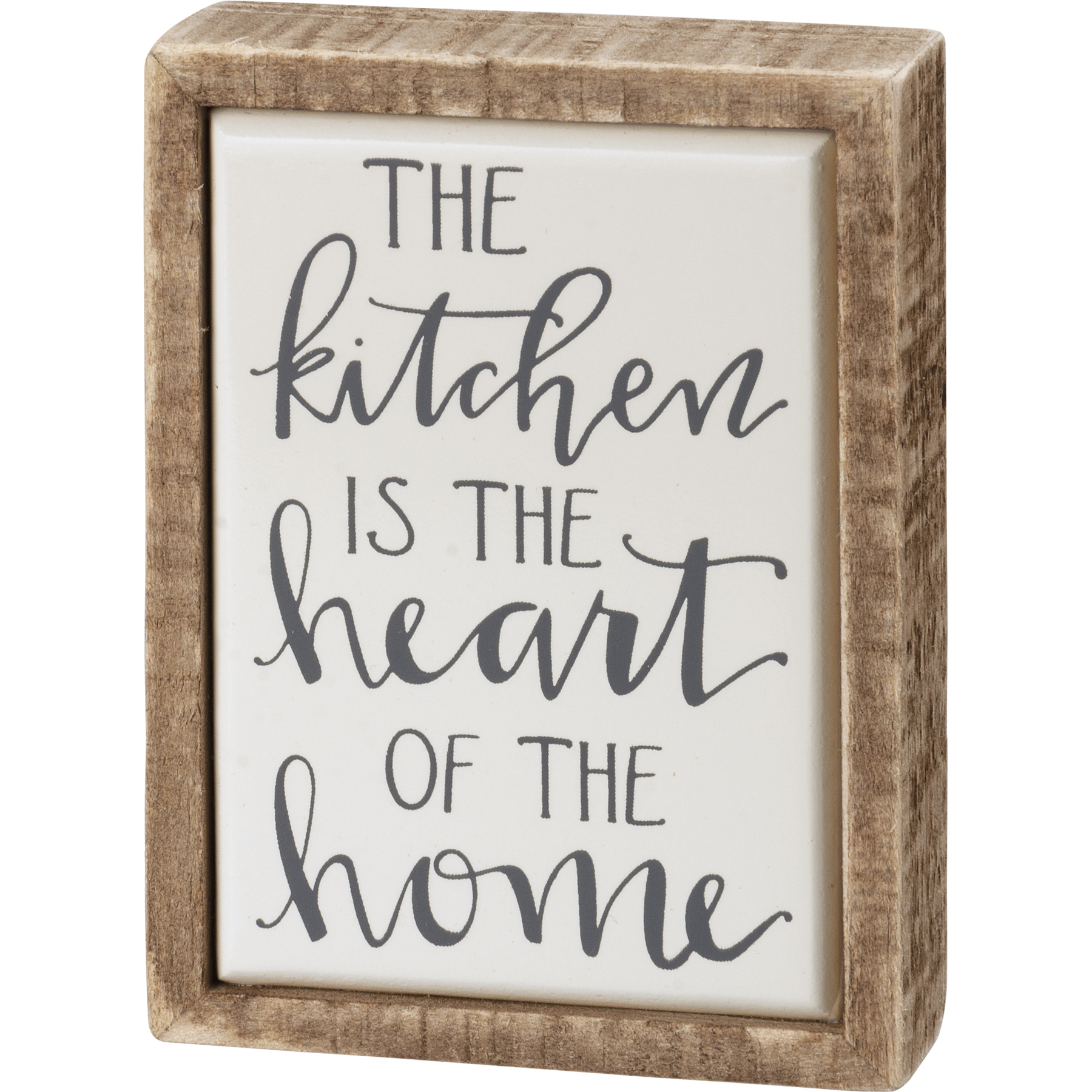 Box Sign Mini Kitchen Is The Heart Of Home Rustic Collection Primitives By Kathy