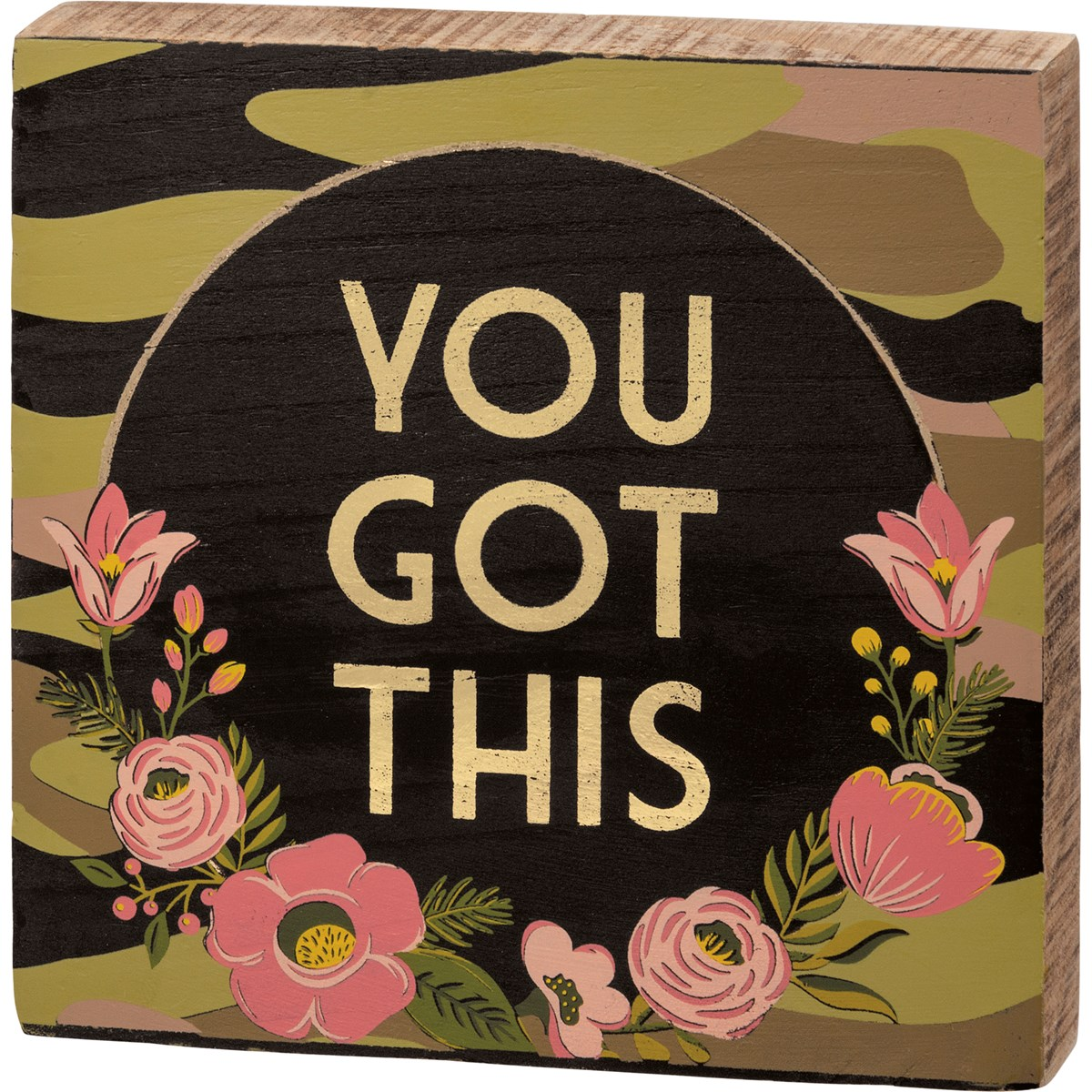 "Block Sign - You Got This - 6"" x 6"" x 1"" - Wood"